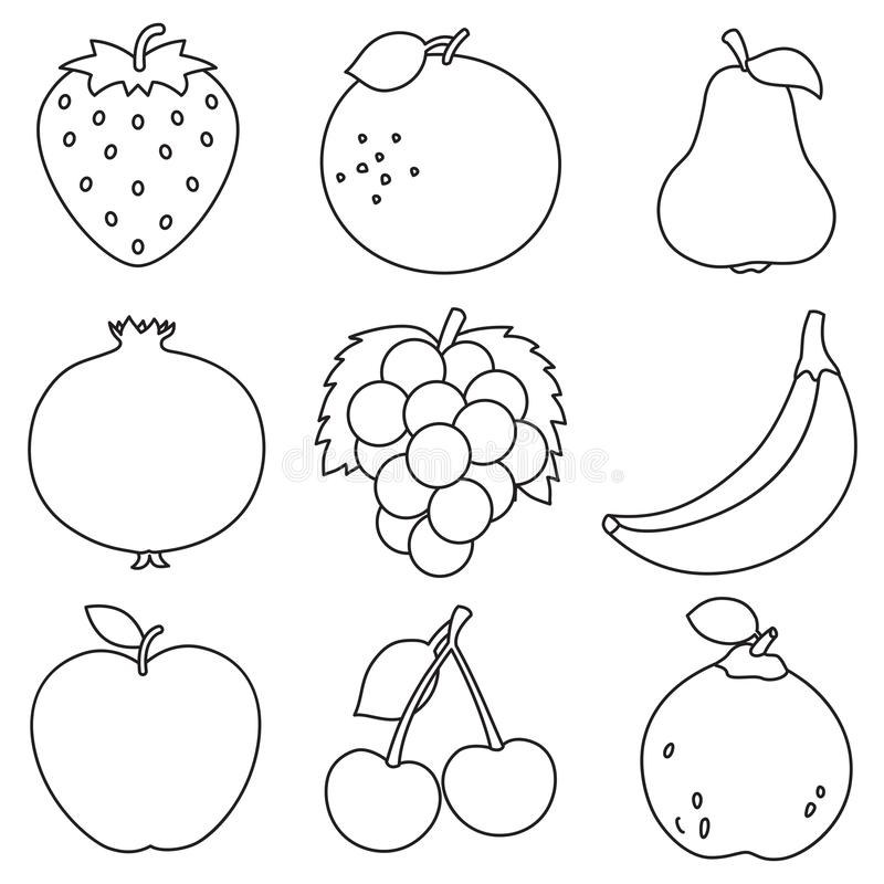 - Fruits Coloring Stock Illustrations – 1,763 Fruits Coloring Stock  Illustrations, Vectors & Clipart - Dreamstime