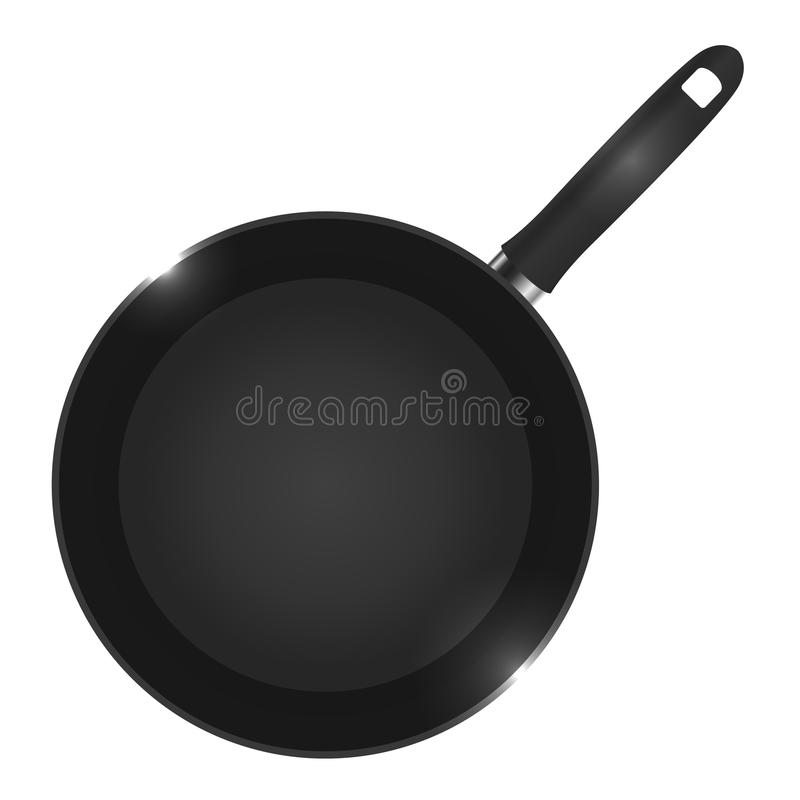 Vector illustration of a frying pan view from above. Vector element for your creativity stock illustration