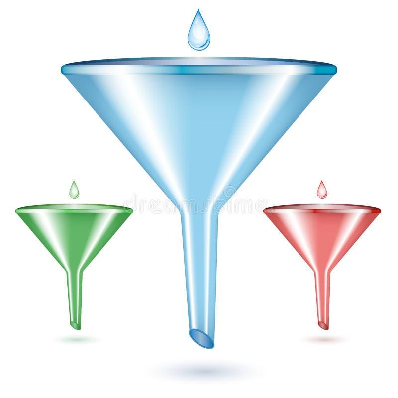 Vector illustration of funnel vector illustration