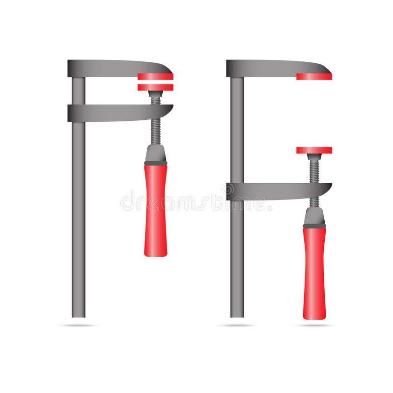 Vector illustration of G clamp stock images