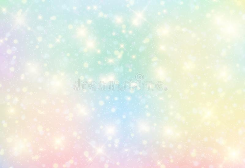 Vector illustration of galaxy fantasy background and pastel color. royalty free illustration