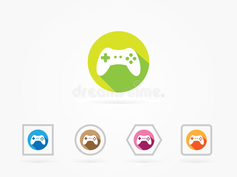 Vector Illustration Game Controller colorful. Vector Illustration of PC Accessories Game Controller on a white background vector illustration