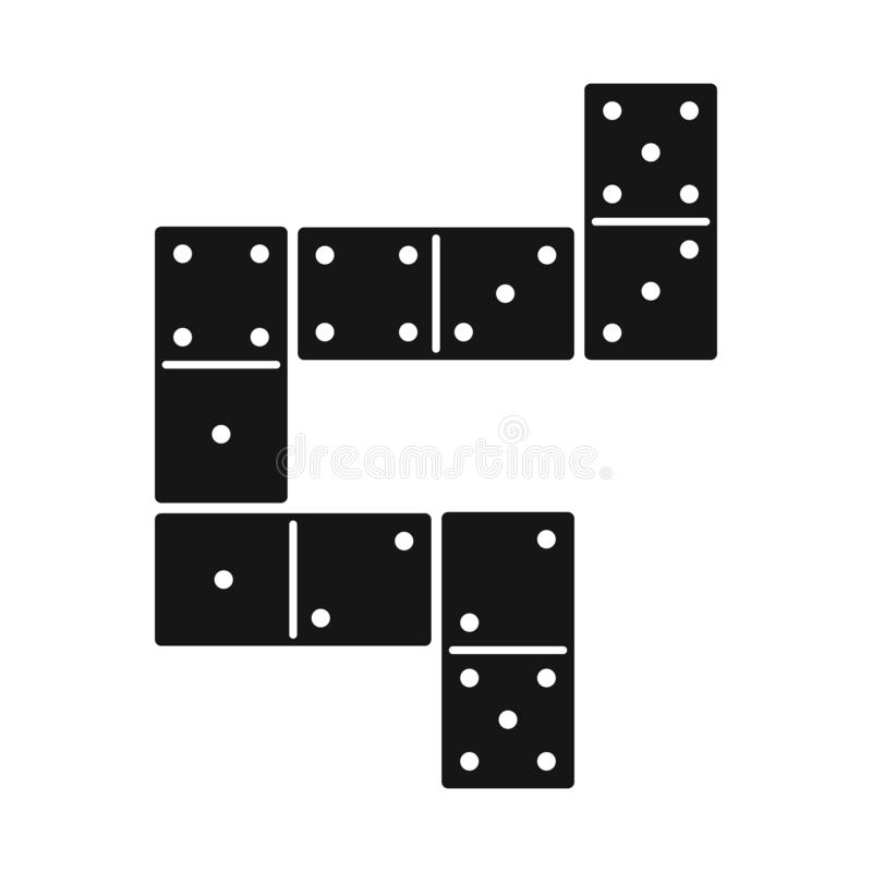 Vector design of game and domino logo. Collection of game and block stock symbol for web. vector illustration