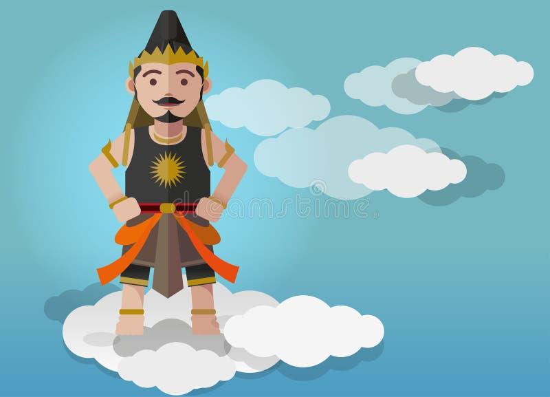Download Vector Illustration, Gatutkaca Puppet Character Stock Vector - Illustration of culture, puppet: 88479391