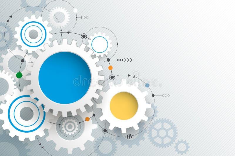 Vector Illustration Gear Wheel. Abstract Hi-tech ...