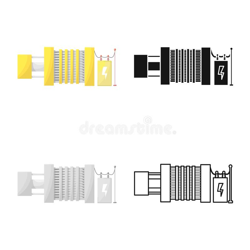Vector illustration of generator and power icon. Set of generator and alternator stock vector illustration. stock illustration