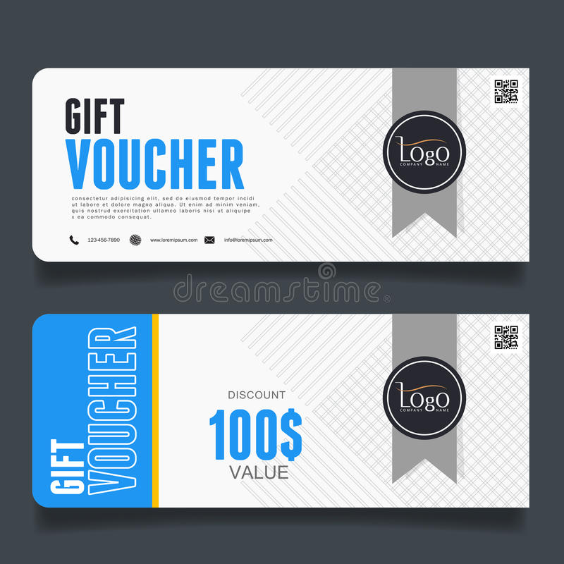 Vector illustration,Gift voucher template with clean and modern pattern. vector illustration
