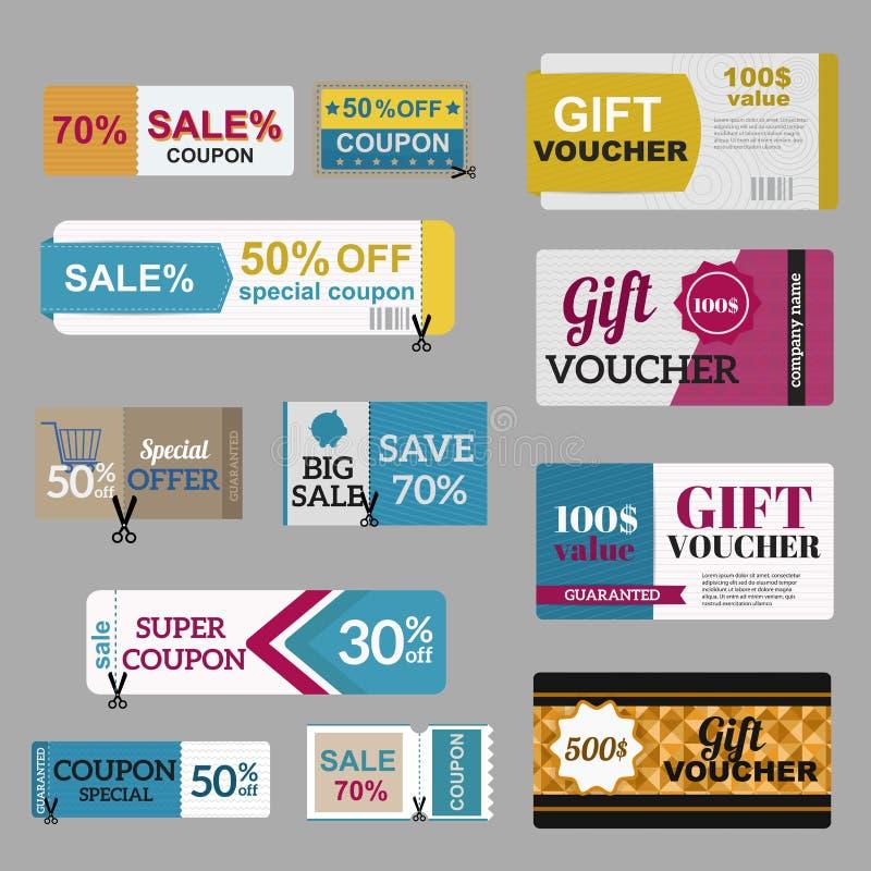 Vector Illustration Of Gift Voucher Template Stock Vector ...