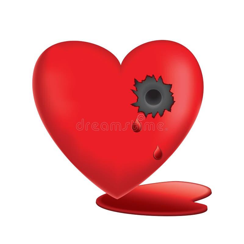 Vector illustration of Glassy Heart royalty free stock photo