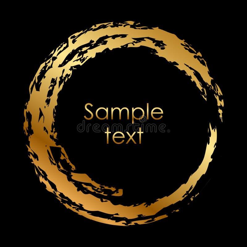 Gold circle vector illustration