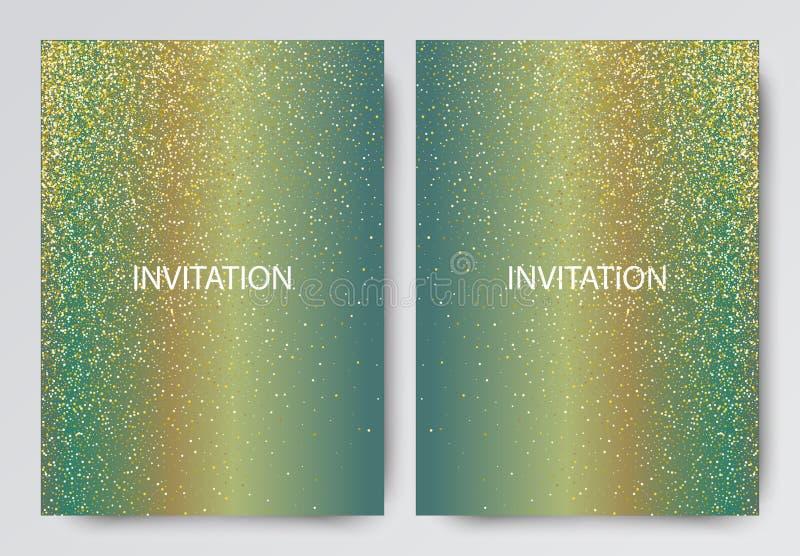 Vector Illustration of Golden Brochure for Design, Website, Background, Banner. royalty free illustration