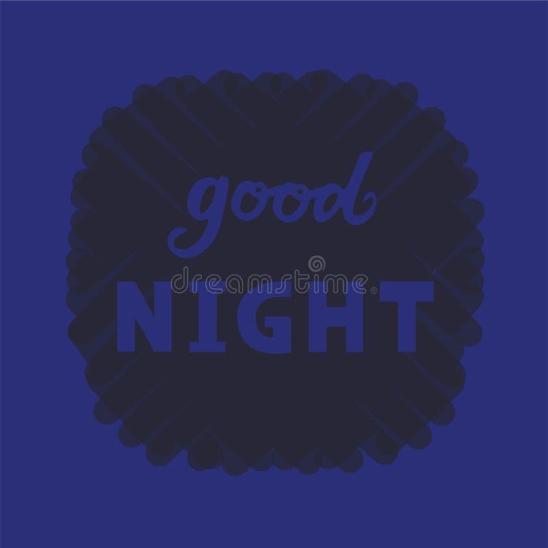 Vector illustration of good night text logotype, flyer, banner, greeting card. Vector illustration of good night text for logotype, flyer, banner, invitation or royalty free illustration