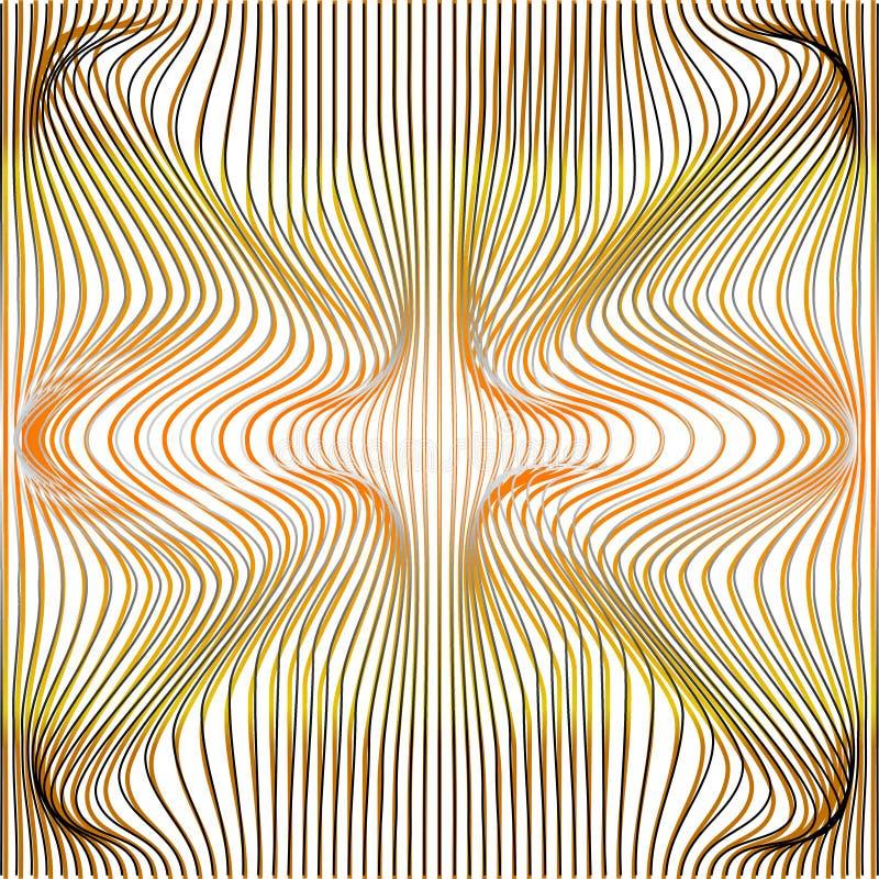 Vector illustration of gradient golden and grey distort and deformation net or mesh warp texture. Vector illustration of gradient golden and grey distort and stock illustration
