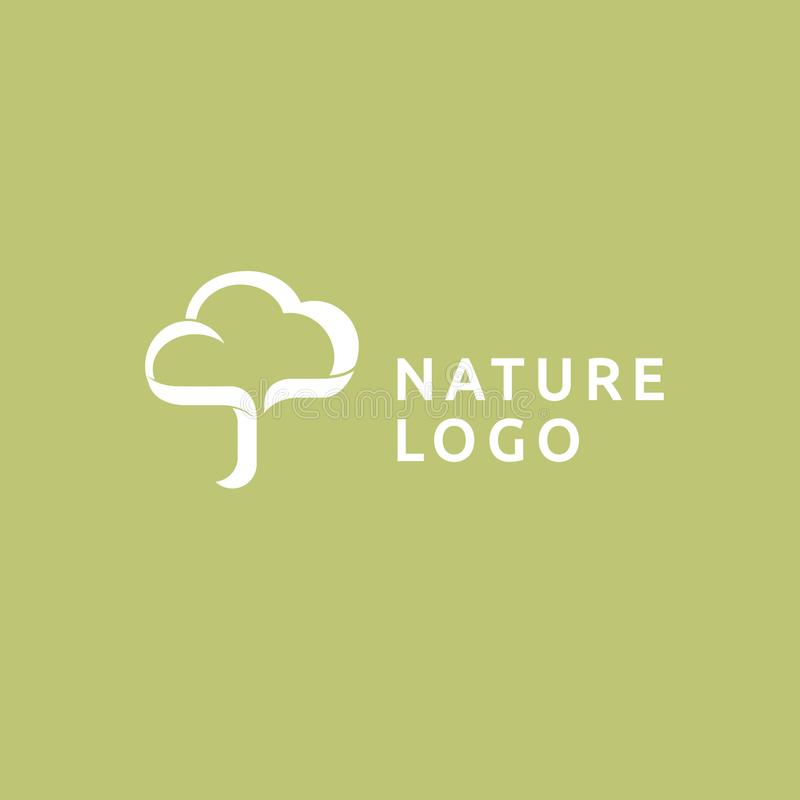 Abstract tree logo icon vector design. Landscape design, garden, Plant, nature and ecology vector logo royalty free illustration