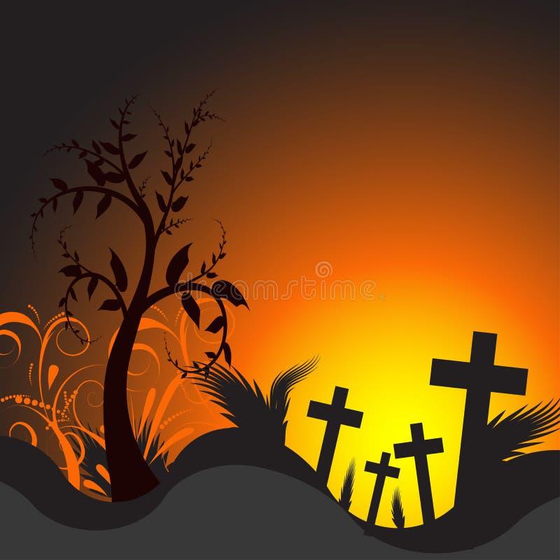 Vector illustration of a grave stock illustration