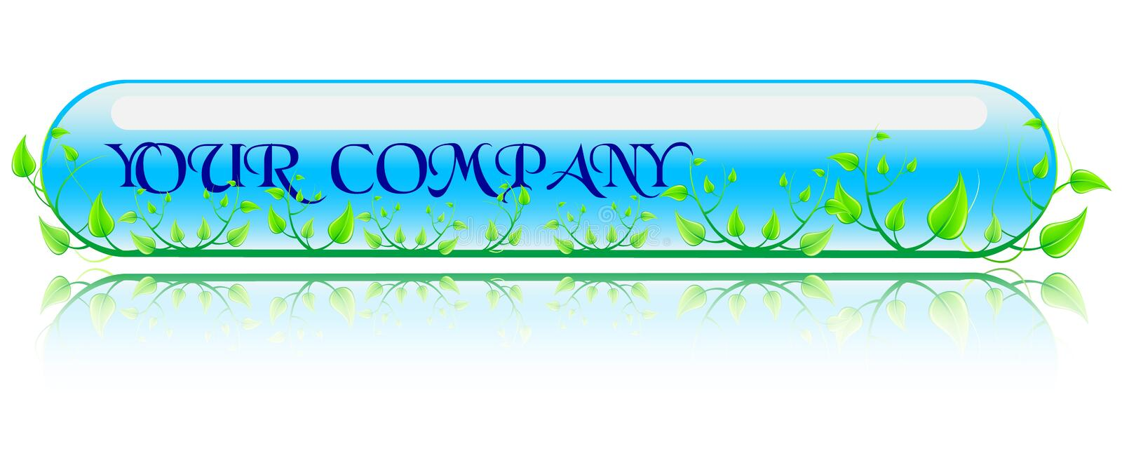 Vector illustration green and blue concept. Vector illustration green and blue enviroment concept stock illustration