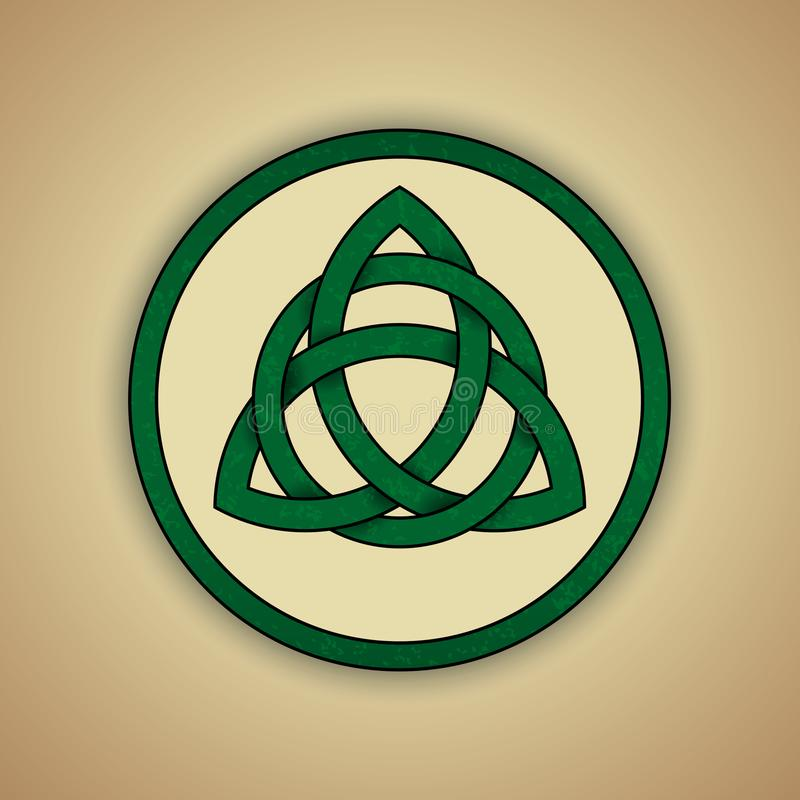 Celtic Knot Symbol Of Trinity Stock Vector Illustration Of Sign