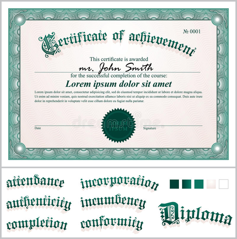 Vector illustration of green certificate stock vector download vector illustration of green certificate stock vector illustration of blank antique yelopaper Images