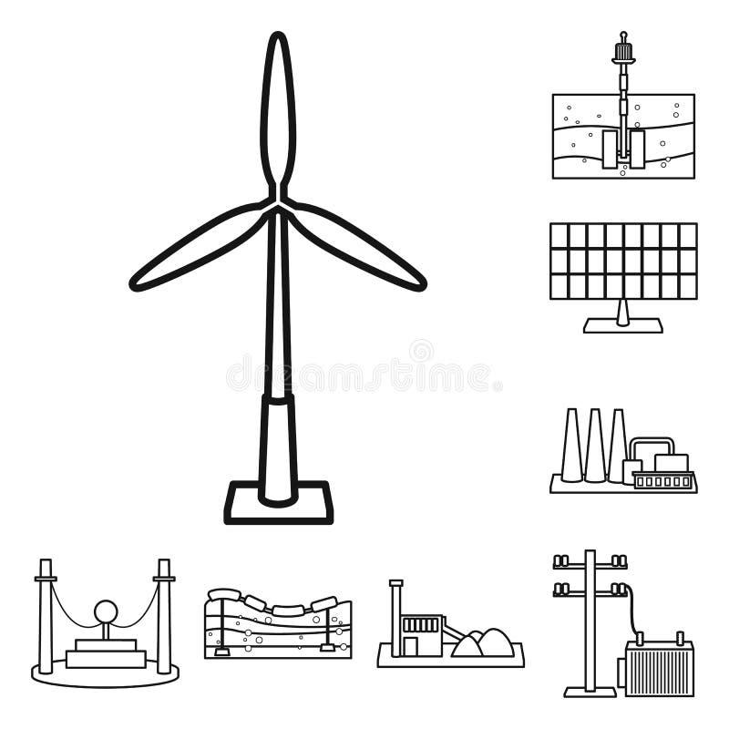 Vector illustration of green and development icon. Set of green and ecological vector icon for stock. Isolated object of green and development symbol stock illustration