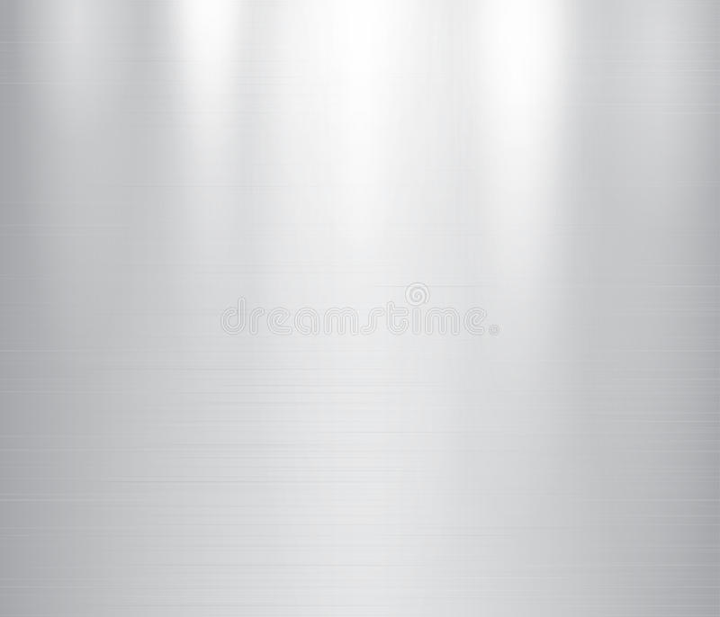 Vector illustration of grey metal, stainless steel texture background. With reflection light stock illustration
