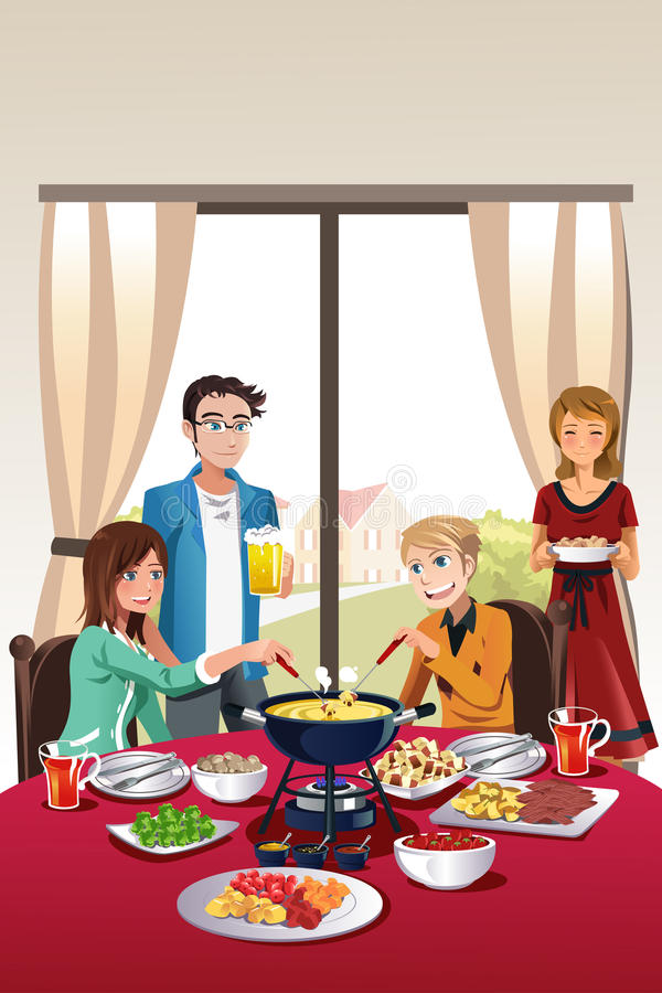 Download Fondue party stock vector. Image of celebration, happy - 29777505