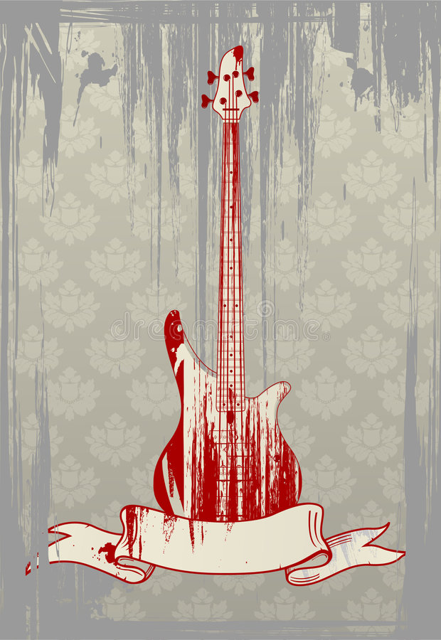 Download Vector Illustration Of Grungy Bass Guitar Stock Vector - Image: 6326755