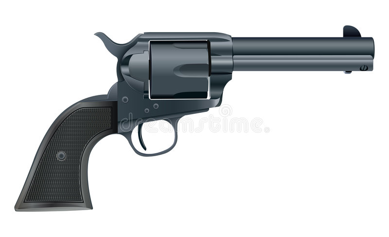 Download Vector Illustration Of A Gun On White Background Stock Vector - Image: 6000966