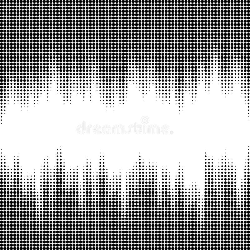 Vector illustration with halftone pattern. Black and white abstract vector background. vector illustration