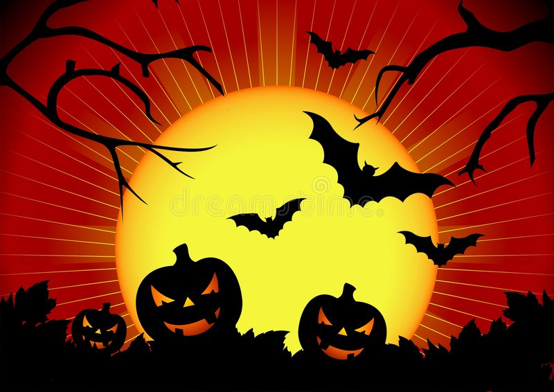 Vector Illustration On A Halloween Theme Stock Vector - Image: 6302124