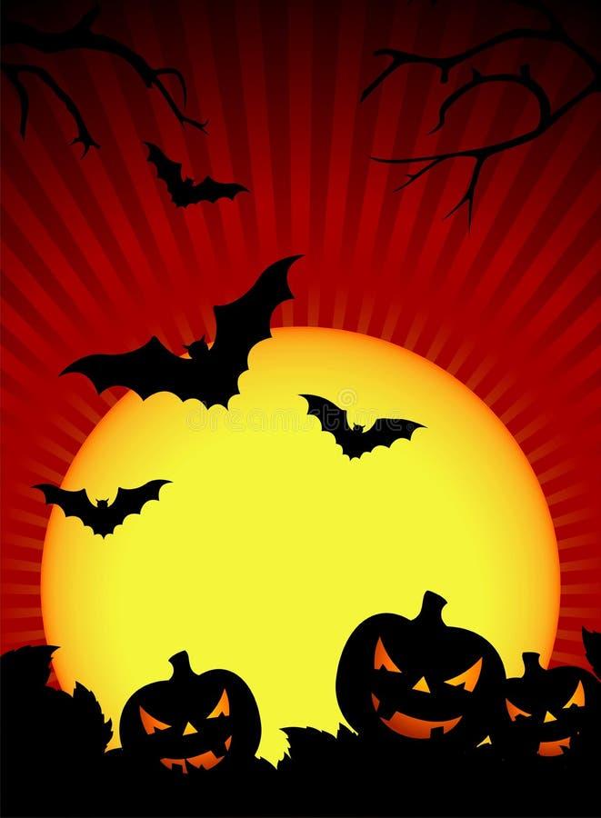 Vector illustration on a Halloween theme. With pumpkin royalty free illustration