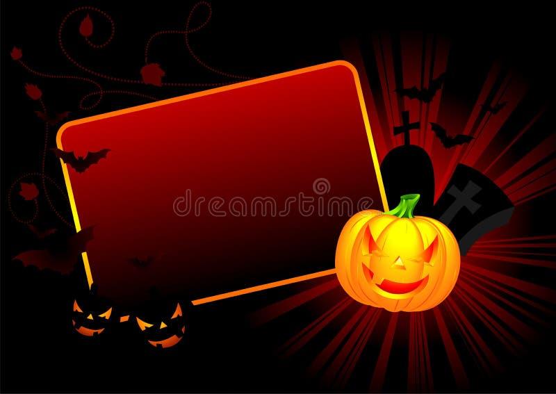 Vector illustration on a Halloween theme. With pumpkin stock illustration