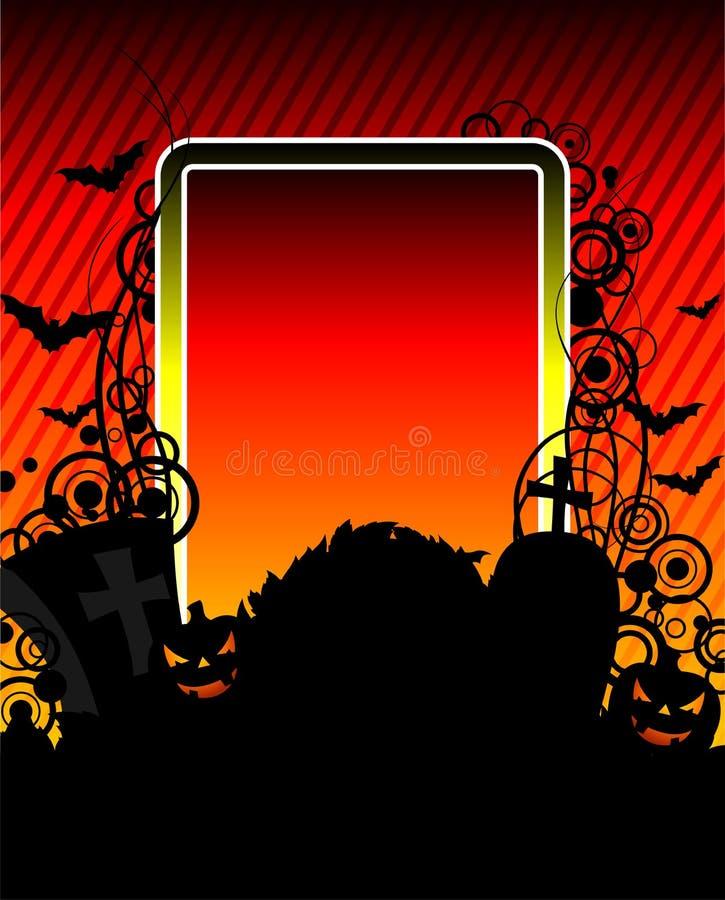 Vector illustration on a Halloween theme. With pumpkins vector illustration