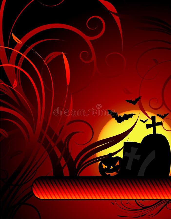 Vector illustration on a Halloween theme. With pumpkin vector illustration