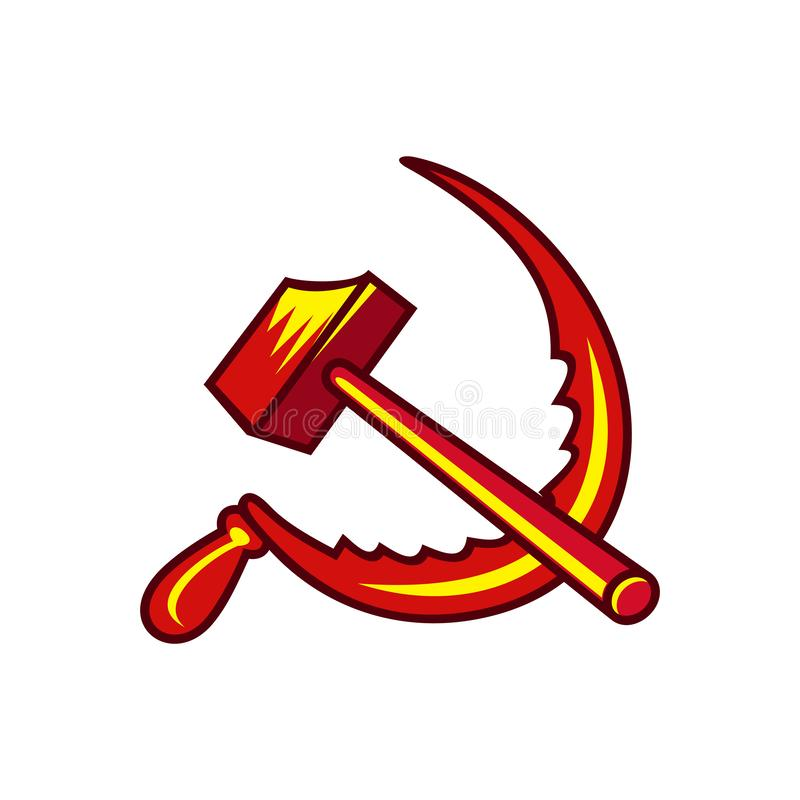 Vector Illustration Hammer: Vector Socialist Symbol Stock Vector. Illustration Of