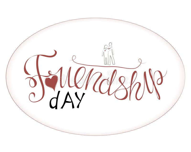 Vector illustration of hand drawn happy friendship day vector illustration