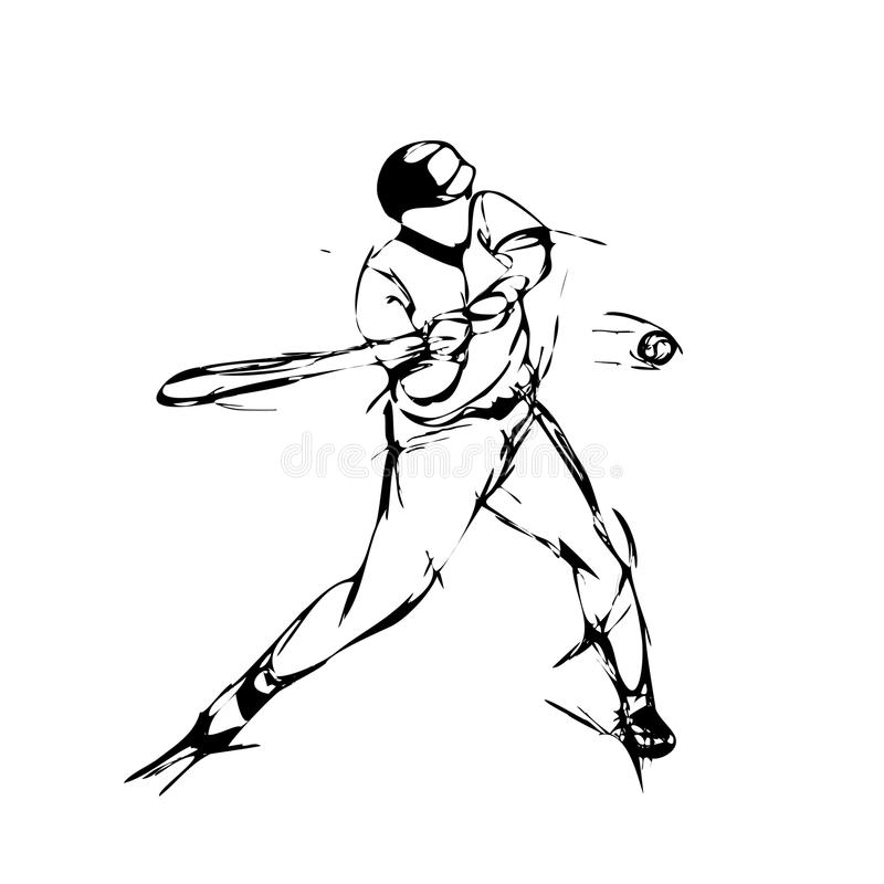 Baseball player stock illustration