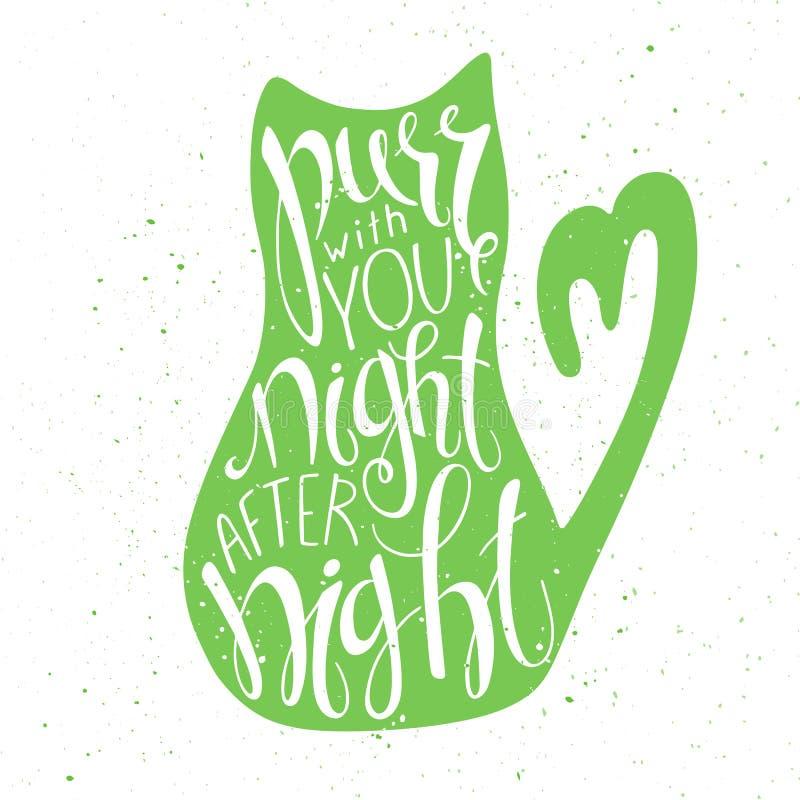Vector illustration of hand lettering inspiring vector illustration