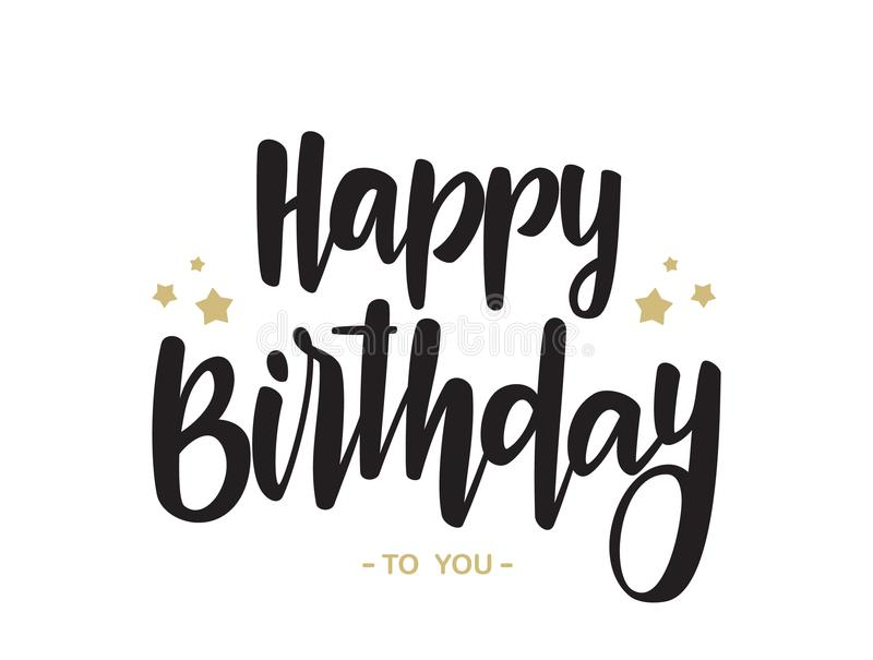 Download Handwritten Type Lettering Of Happy Birthday To You On White Background Typography Design
