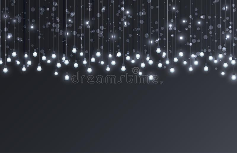 Vector light bulbs vector illustration