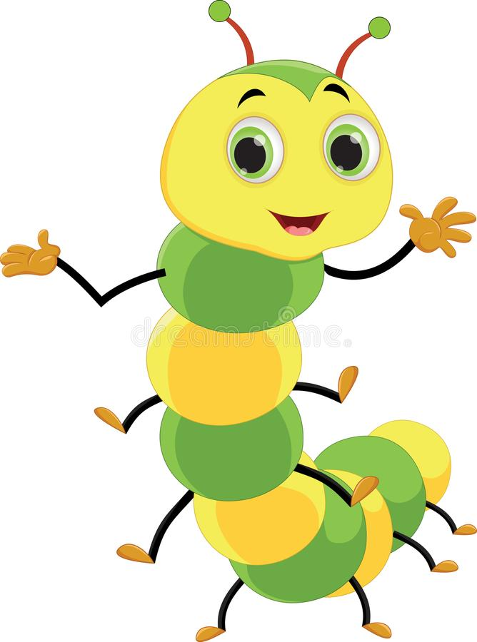 Illustration of happy ant cartoon. Vector illustration of happy ant cartoon isolated on white vector illustration