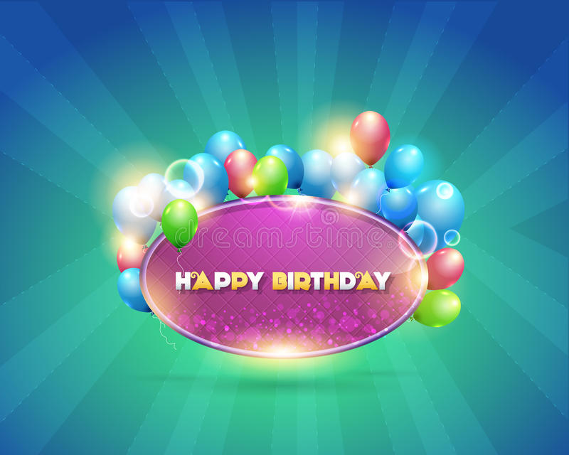 Vector Illustration of Happy Birthday Design Backg stock illustration