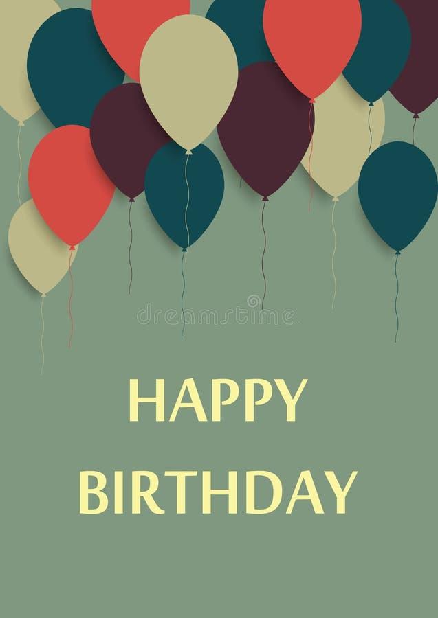 Vector Illustration of a Happy Birthday Greeting Card. Vector vector illustration