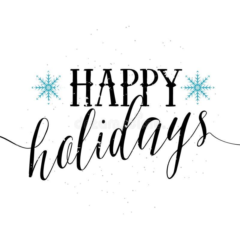 Verwonderlijk Happy Holidays Text And Lettering. Holiday Typography Vector FJ-29