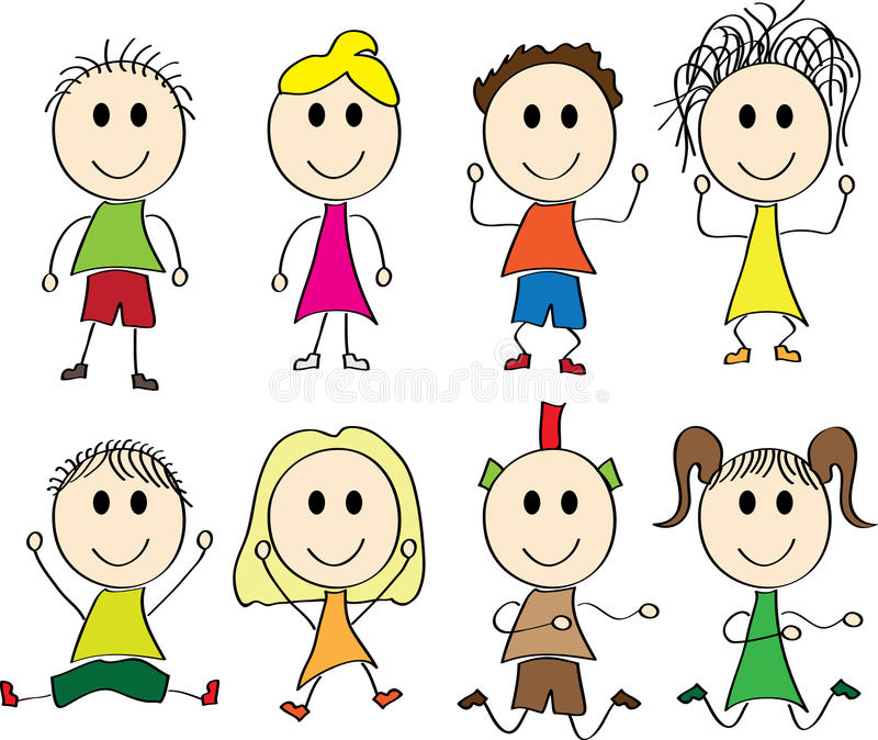 Vector illustration of happy kids vector illustration