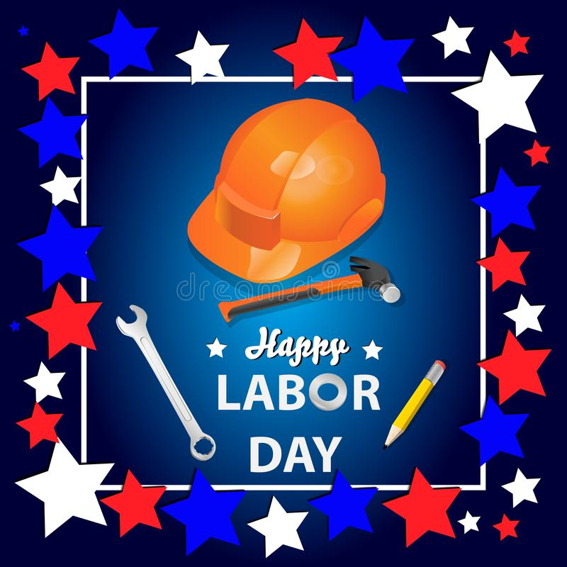 Happy Labor Day banner. Design template. Vector illustration royalty free illustration