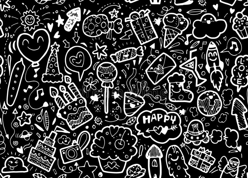 Vector illustration of happy party background,hand drawn happy e vector illustration