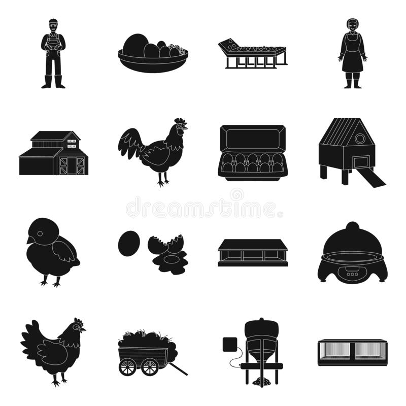 Vector design of harvest and farming icon. Collection of harvest and poultry vector icon for stock. royalty free illustration
