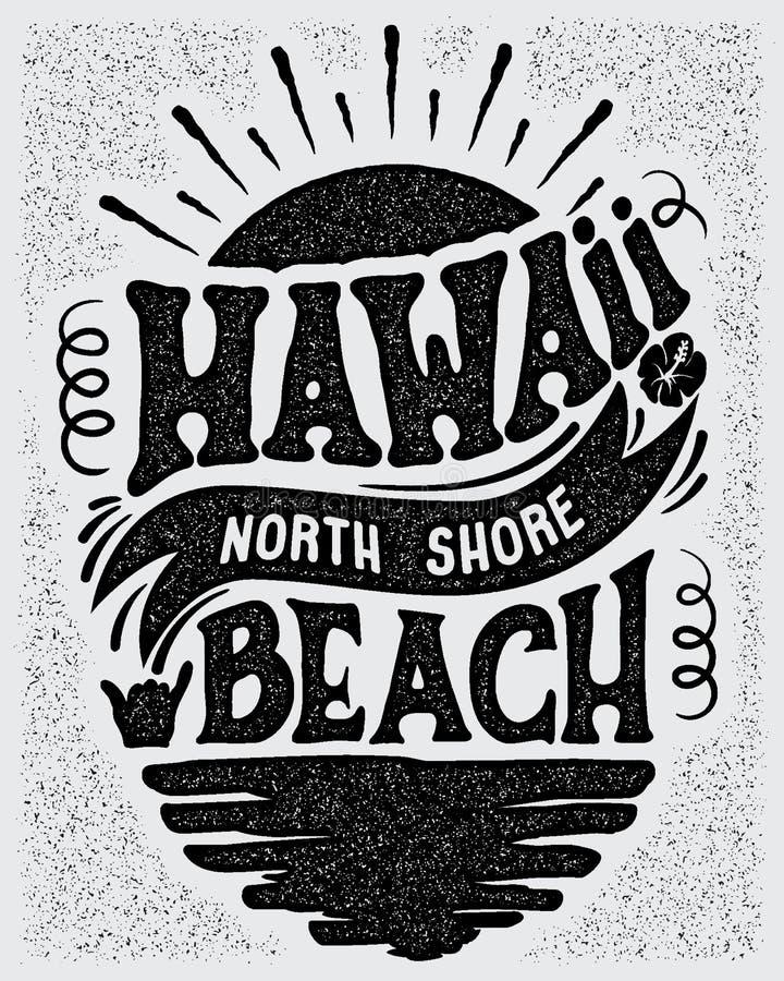 Free Vector Illustration Hawaii, North Shore Beach. Stock Photo - 98262510