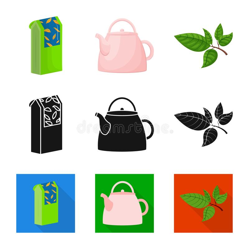 Vector design of healthy and floral icon. Set of healthy and gradient stock vector illustration. Vector illustration of healthy and floral symbol. Collection of stock illustration