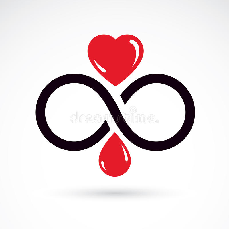 Vector Illustration Of Heart Shape And Infinity Symbol Hematolo